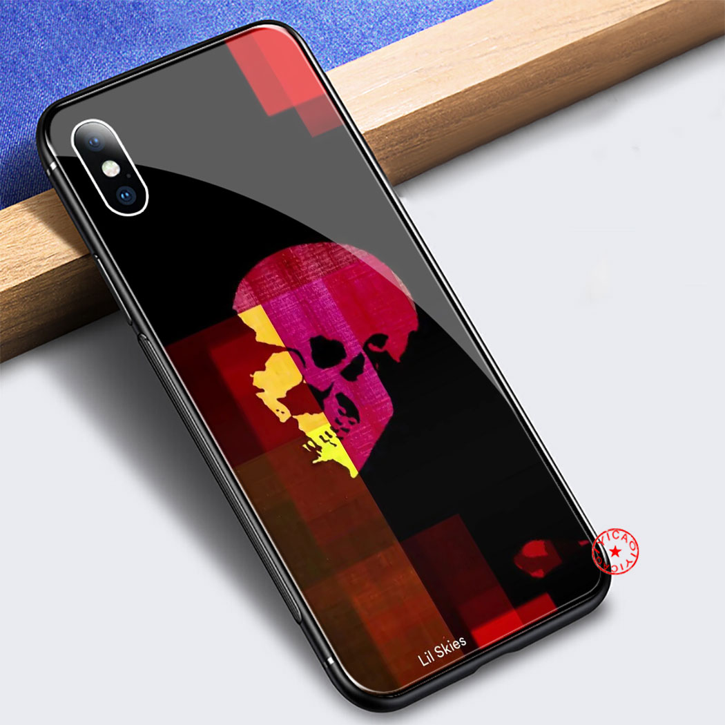Lil Dangaus Reperis Grūdintas Stiklas Case for iphone 5 5S SE 6 6S 7 8 Plius 11 Pro X XR XS Max Pro Dangtelį